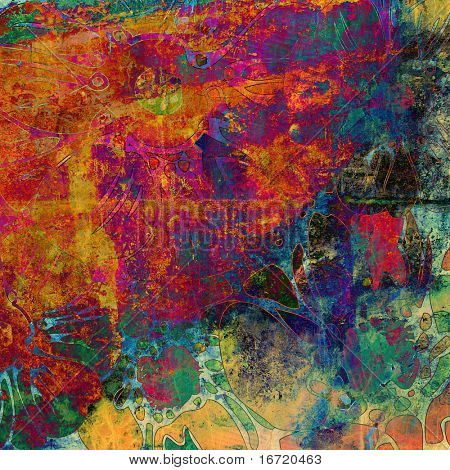 art floral grunge background pattern. To see similar, please VISIT MY PORTFOLIO.