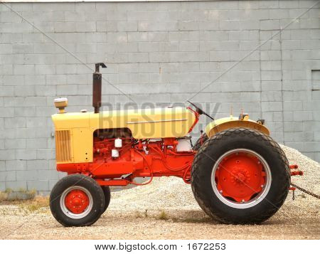 Tractor By Gravel Pile