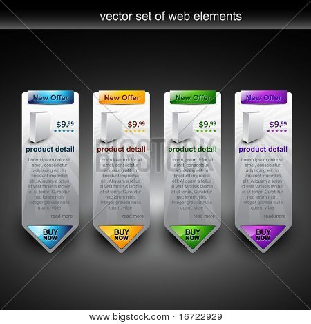 web product display item vector
