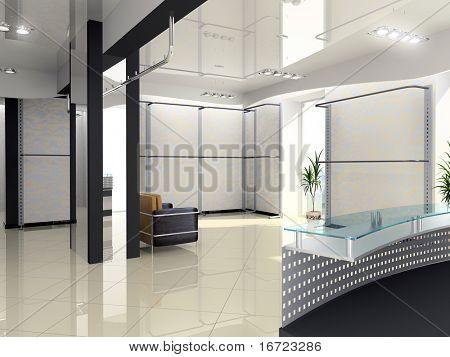 Modern Shop Interior design (computer-generated image)