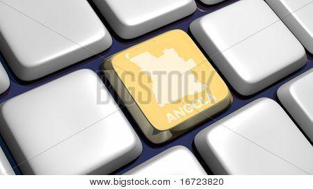 Keyboard (detail) With Angola Map Key