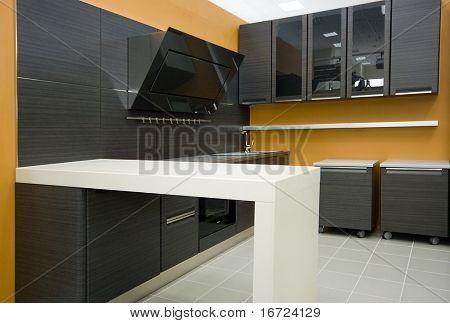 the modern kitchen interior close-up detail  photo