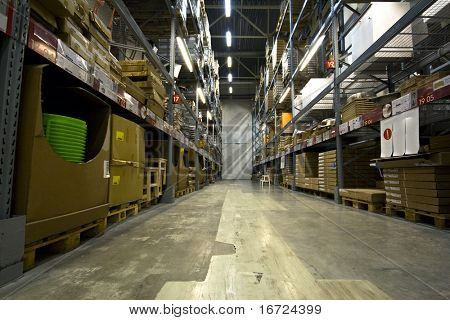 large warehouse perspective photo