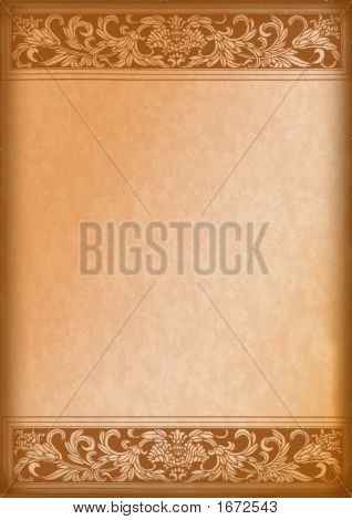 Ornamental Wooden Background