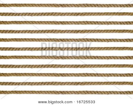 Rope on a white background (isolated).