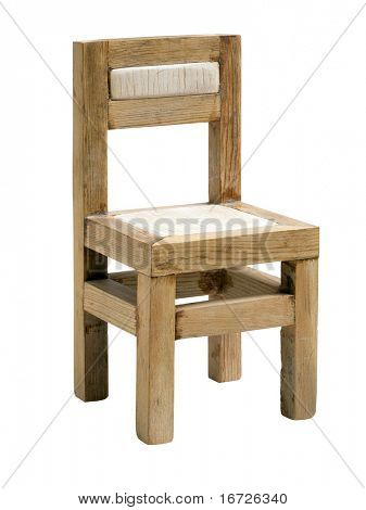 Chair toy on a white background (isolated with path).