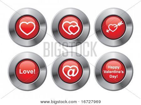 Happy Valentines day button.