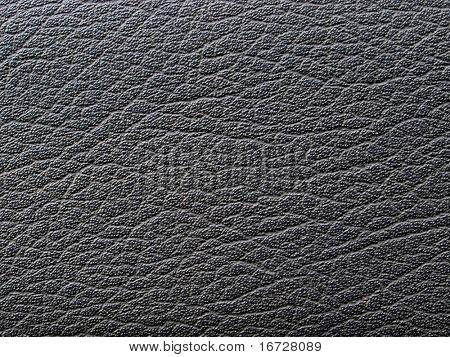 Leathery black background.
