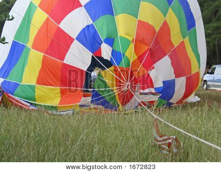 Deflating Hot Air Balloon