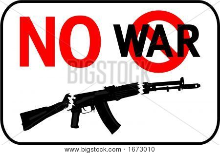No War Placard