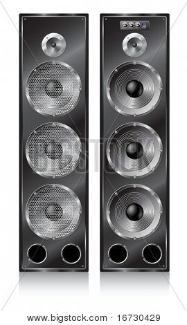 Big high speaker stereo systems.