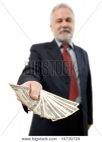 Businessman and money.