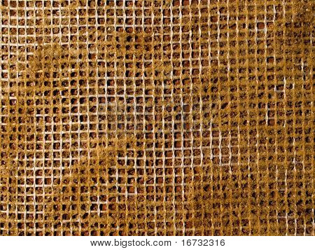 Abstract yellow reticulation gluten pattern closeup background.