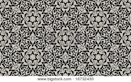 Arabic floral seamless pattern - background for continuous replicate.