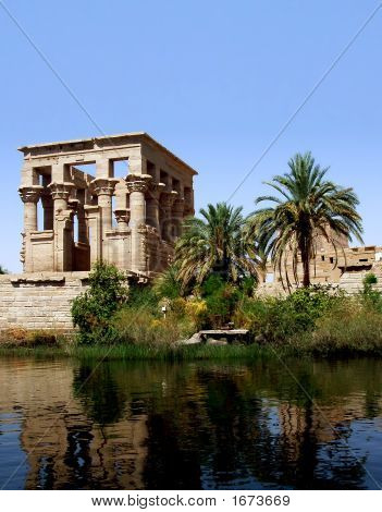 Philae Temple At Nile'S River, Egypt