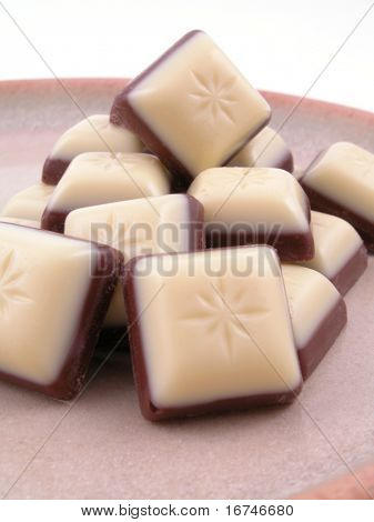 plate of chocolate close-ups