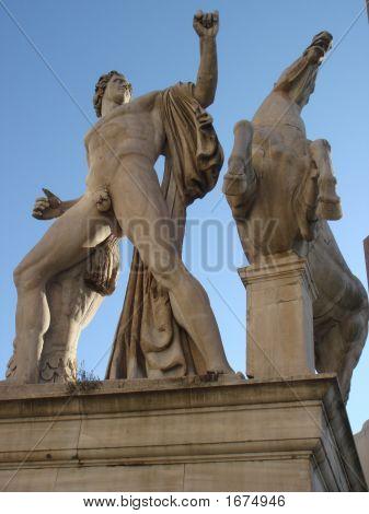 Statue Of Horse Tamer 3  Rome