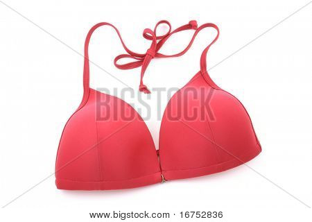 red bikini isolated on white