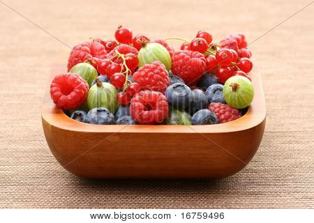 bowl full of berry fruits - summer time