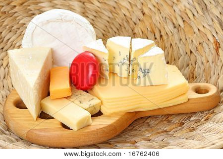 board of delicious cheese - food and drink