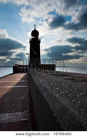 lighthouse over blue sky in Bremerhaven