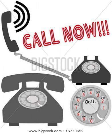 Encourage your customers to call. On 28 layers, for easy modification. Pure vector, no CS gradients or other effects used.