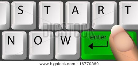 "Each key is on its own layer, so you can easily change ""START NOW"" to your own word.or."