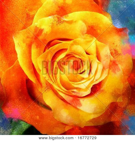Grungy Tuscan Rose