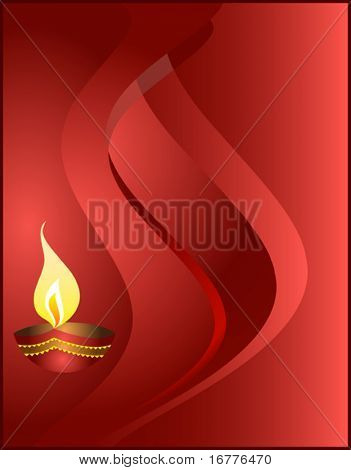 Diwali festival diya abstract background