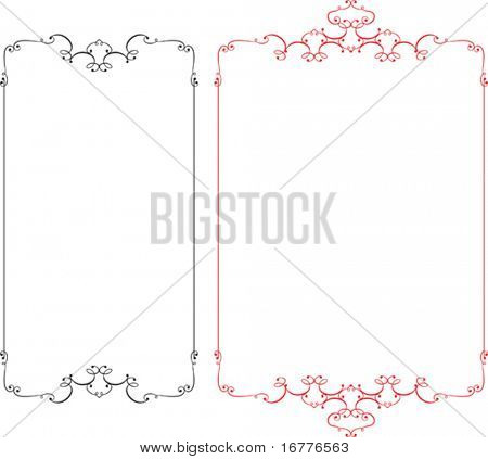 Calligraphic Frame, Border Designs in various shapes