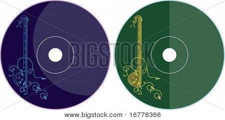 Music CD - DVD Label Design