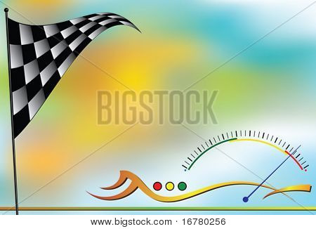 Race Sports Background design with copy space