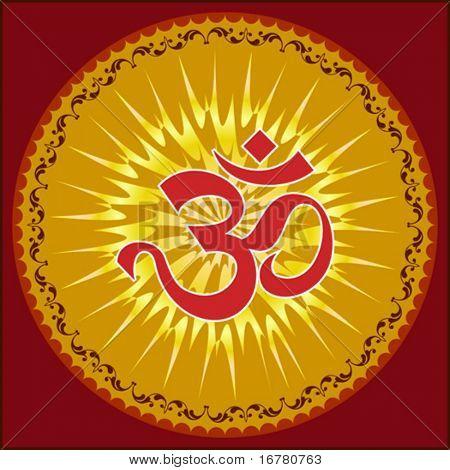 Aum (Om) the holy motif