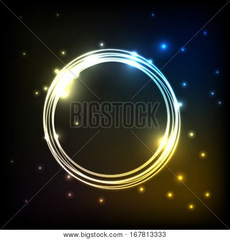 Abstract colorful plasma background with circles, stock vector