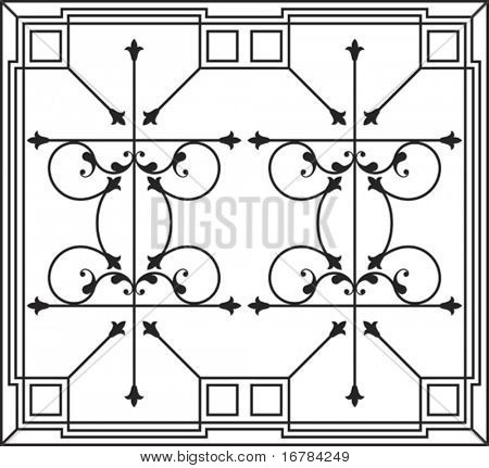 Wrought Iron Fire place grill, wall decor, wall hanging design