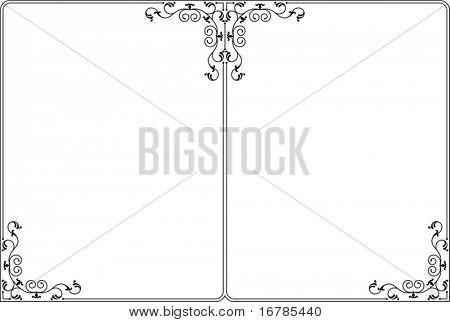 Dual Border, Frame design