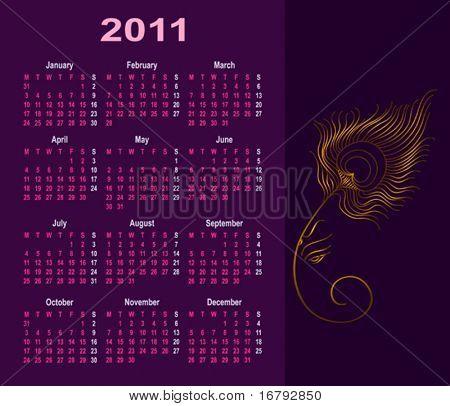 Ganesha Calendar 2011