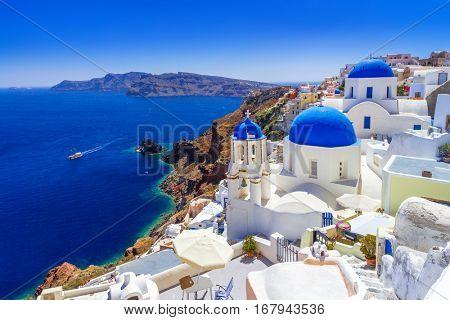 Beautiful Oia town on Santorini island, Greece