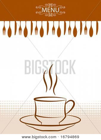 Coffee - Tea Menu Card Template