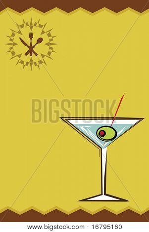 Menu Card martini
