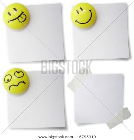 empty notepad with smiles