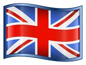 United Kingdom Flag Icon. ( With Clipping Path )
