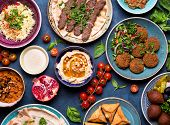 Arabic Dishes And Meze poster