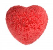 Red fluffy heart. poster