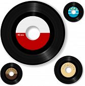 stock photo of jukebox  - Retro 45 RPM record - JPG