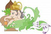 stock photo of kalash  - GaneshJi with Kalash - JPG