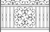 stock photo of wrought iron  - Wrought Iron Gate - JPG
