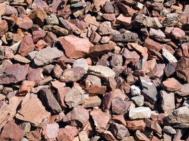 stock photo of scoria  - Red stones - JPG