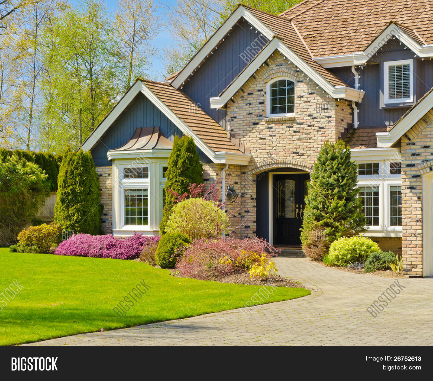 fragment nice house vancouver image photo bigstock