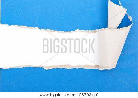 Papel rasgado azul